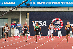 Ashton Eaton, Decathlon, 100 meters, on his way to setting world record