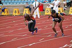 British Open Athletics Championships 2003 games; disabled athletes taking part in a running event,