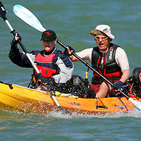 Sea Kayak, Canoe, paddling in the Solent, Cowes week, Isle of Wight, England, UK, photography photograph canvas canvases