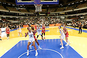 Marième Badiane of Lyon and Myriam Djekoundade of Mondeville during the Women's French Championship Basketball match between Lyon Asvel Feminin and USO Mondeville on January 26, 2018 at Palais des Sports de Gerland in Lyon, France - Photo Romain Biard / ISports / ProSportsImages / DPPI