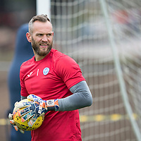 St Johnstone Training…07.09.17<br />Alan Mannus pictured during training at McDiarmid Park ahead of the home game against Hibs<br />Picture by Graeme Hart.<br />Copyright Perthshire Picture Agency<br />Tel: 01738 623350  Mobile: 07990 594431