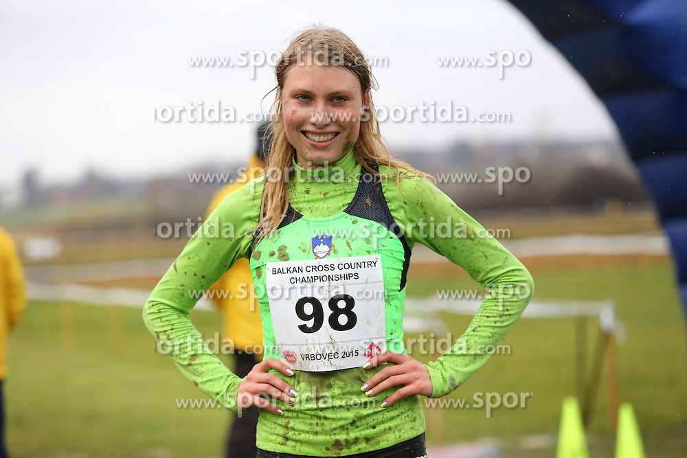 Marusa Mismas of Slovenia #98 competed in the U23 Category of Balkan CC Championships 2015, on November 22, 2015 in Vrbovec, Croatia. Photo by Ales Hostnik / Sportida