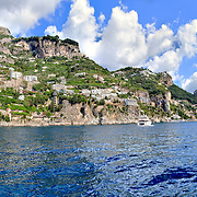 Amalfi coast from the sea, Campania