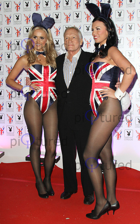 Hugh Hefner; Playboy Bunnies Playboy Club London Gala Launch Party, London, UK, 04 June 2011:  Contact: Rich@Piqtured.com +44(0)7941 079620 (Picture by Richard Goldschmidt)