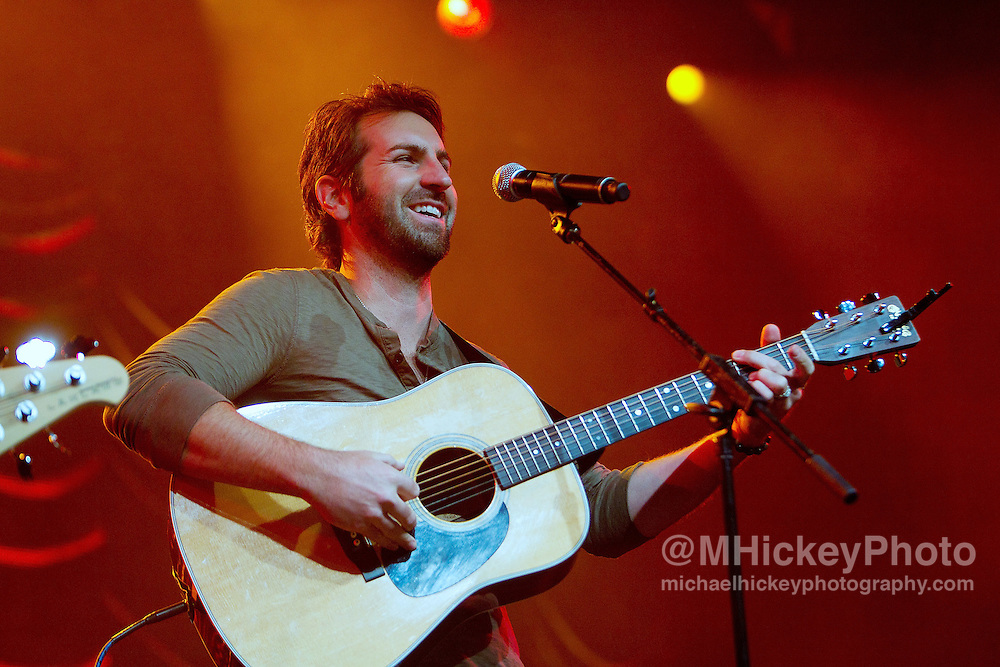 Josh Kelley performs at the Best Buy Country Music Expo at the Indiana State Fairgrounds in Indianapolis, Indiana.