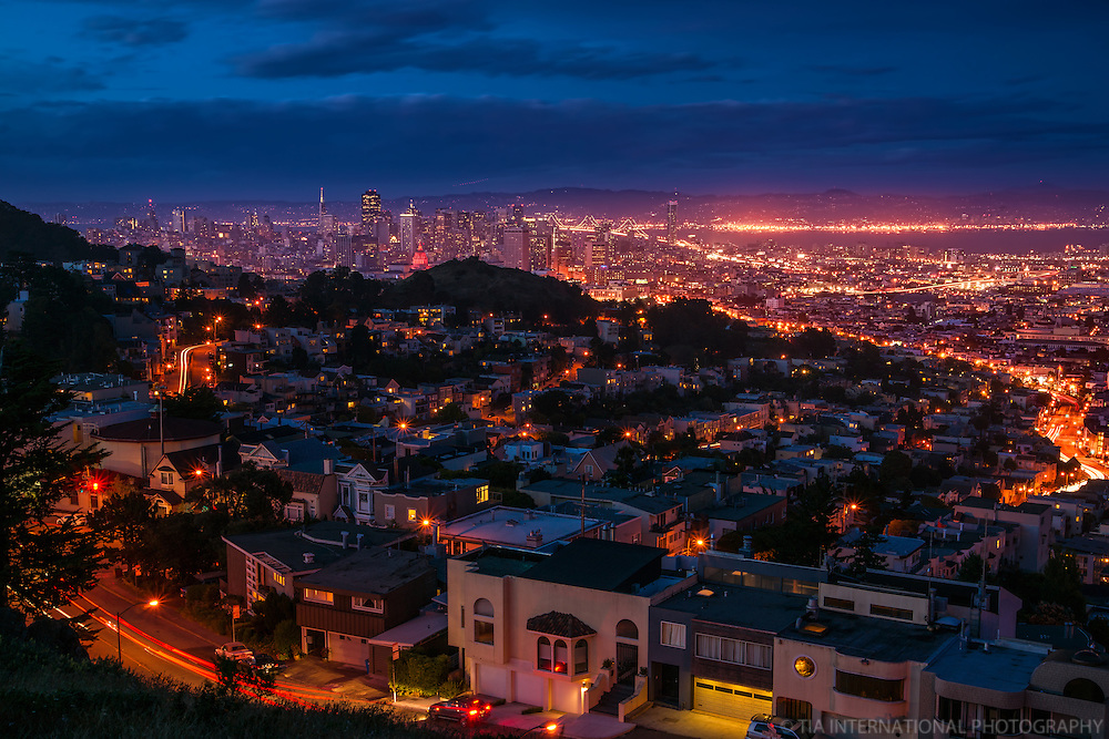 San Francisco @ Twilight, Tank Hill