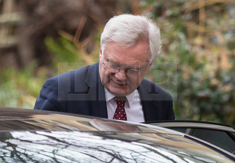 © Licensed to London News Pictures. 09/02/2017. London, UK. Secretary of State for Exiting the European Union David Davis seen in Downing Street today. Photo credit : Tom Nicholson/LNP