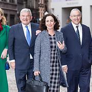 NLD/Amsterdam/20190115 - Koninklijke nieuwjaarsontvangst Nederlandse genodigden, Femke Halsema en Jan van Zanen, Pauline Krikke en Ahmed Aboutaleb