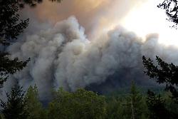 September 12, 2015 - Lake County, California, Smoke billowing out of  through s through Boggs Mountain State Forest near Loch Lomond (Kai Ringeisen / Polaris)