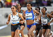 Genzebe Dibaba (ETH) places second in the women's 3,000m in 8:26.60 during the IAAF Doha Diamond League 2019 at Khalifa International Stadium, Friday, May 3, 2019, in Doha, Qatar (Jiro Mochizuki/Image of Sport)