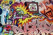 bemalte Hauswand, Graffiti, äußere Neustadt., Dresden, Sachsen, Deutschland.|.painted wall, Graffiti, Neustadt, Dresden, Germany