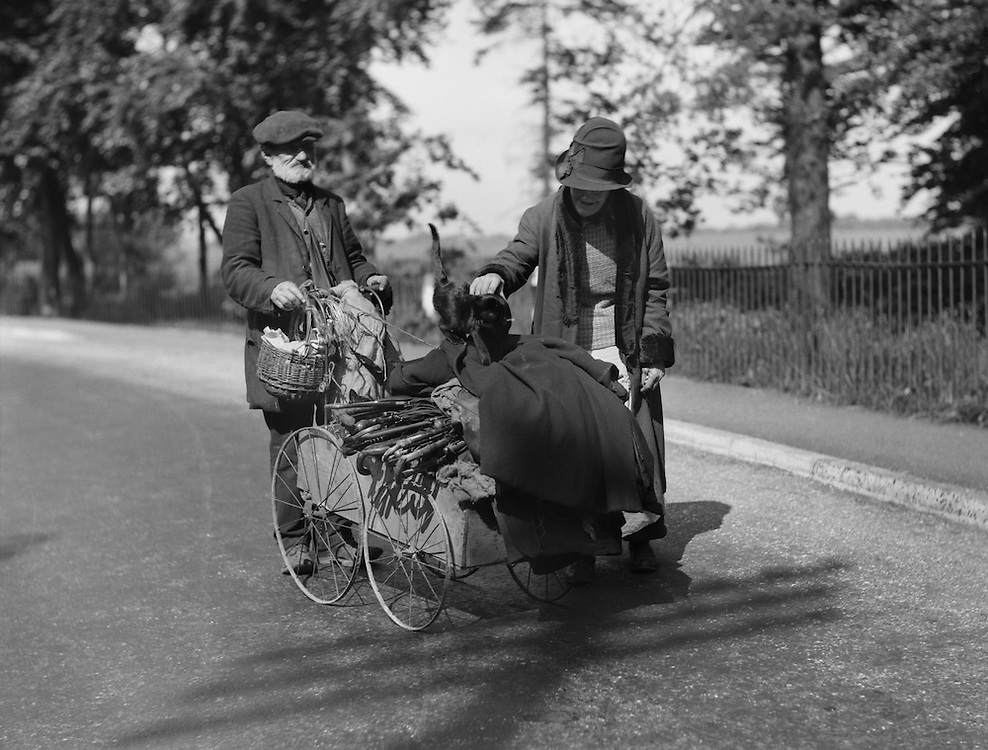 "Two Types with Cart ""On the King's Highway"", Kent, England, 1932"