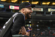 PHOENIX, AZ - SEPTEMBER 14:  Tyler Chatwood #32 of the Colorado Rockies laughs during the MLB game against the Arizona Diamondbacks at Chase Field on September 14, 2017 in Phoenix, Arizona.  (Photo by Jennifer Stewart/Getty Images)