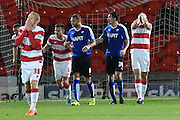 Doncaster dispare at Andy Williams of Doncaster Rovers missed goal during the Sky Bet League 1 match between Doncaster Rovers and Chesterfield at the Keepmoat Stadium, Doncaster, England on 24 November 2015. Photo by Ian Lyall.