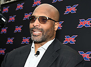 Winston Moss is introduced as coach and general manager of the XFL team in Los Angeles during a news conference, Tuesday, May 7, 2019, in Los Angeles. Play will begin in the eight-team league on Feb. 8-9, 2020 with teams in Dallas, Houston, Los Angeles, New York, St. Louis, Seattle , Tampa Bay and Washington D.C.