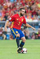 Spain's Daniel Carvajal during match between Spain and Italy to clasification to World Cup 2018 at Santiago Bernabeu Stadium in Madrid, Spain September 02, 2017. (ALTERPHOTOS/Borja B.Hojas)