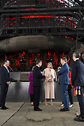Staatsbezoek aan Luxemburg dag 2 / State visit to Luxembourg day 2<br /> <br /> Op de foto / On the photo: Introductie universiteit Luxemburg op de  Campus Belval waar ze uitleg krijgen  bij de smeltoven Koning Willem Alexander en koningin Maxima met Groothertog Henri en Groothertogin Maria Teresa / Introduction to the Luxembourg university at Campus Belval where they receive an explanation from the melting furnace King Willem Alexander and Queen Maxima with Grand Duke Henri and Grand Duchess Maria Teresa