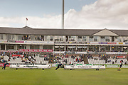 General view of the ground as rain stops play during the LV County Championship Div 1 match between Durham County Cricket Club and Yorkshire County Cricket Club at the Emirates Durham ICG Ground, Chester-le-Street, United Kingdom on 28 June 2015. Photo by George Ledger.