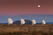Moonrise over the Very Large Array (VLA) and The Plains of San Augustin, New Mexico.