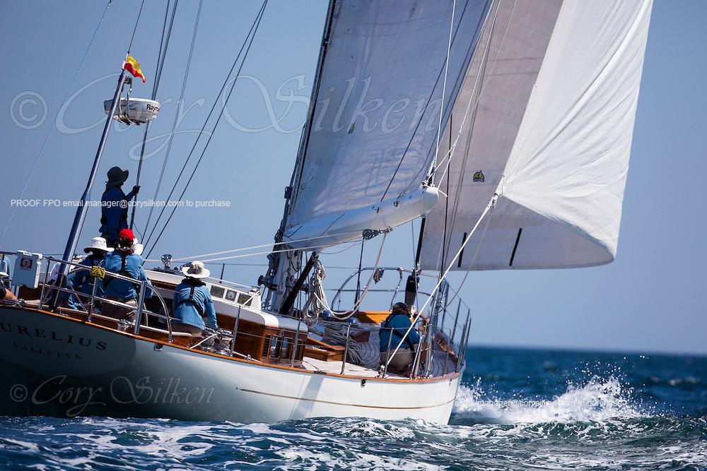 Aurelius sailing at the start of the 2012 Newport Bermuda Race.