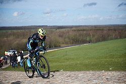 Rozanne Slik (NED) attacks the VAMberg cobbles at Drentse 8 van Westerveld 2019, a 145 km road race starting and finishing in Dwingeloo, Netherlands on March 15, 2019. Photo by Sean Robinson/velofocus.com