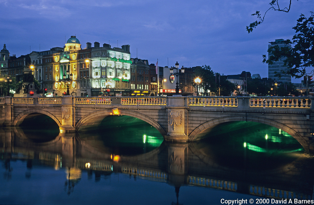 O'Connell Bridge; River Liffy; Dublin; Ireland
