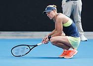 ANGELIQUE KERBER (GER) reagiert enttaeuscht,Enttaeuschung,Frust,Emotion,<br /> <br /> Tennis - Australian Open 2018 - Grand Slam / ATP / WTA -  Melbourne  Park - Melbourne - Victoria - Australia  - 25 January 2018.