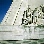 Europa, Portugal, Lissabon, Bel&eacute;m.<br /> Padr&atilde;o dos Descobrimentos und Besucher.<br /> Europe, Portugal, Lisbon, Bel&eacute;m.<br /> Padr&atilde;o dos Descobrimentos and visitor.<br /> &copy; 2013 Harald Krieg/Agentur Focus