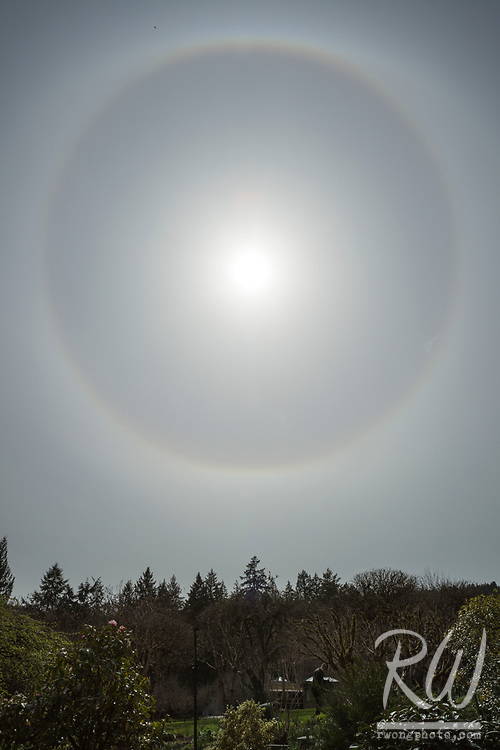 22° Halo Around the Sun at The Butchart Gardens, Vancouver Island, B.C., Canada