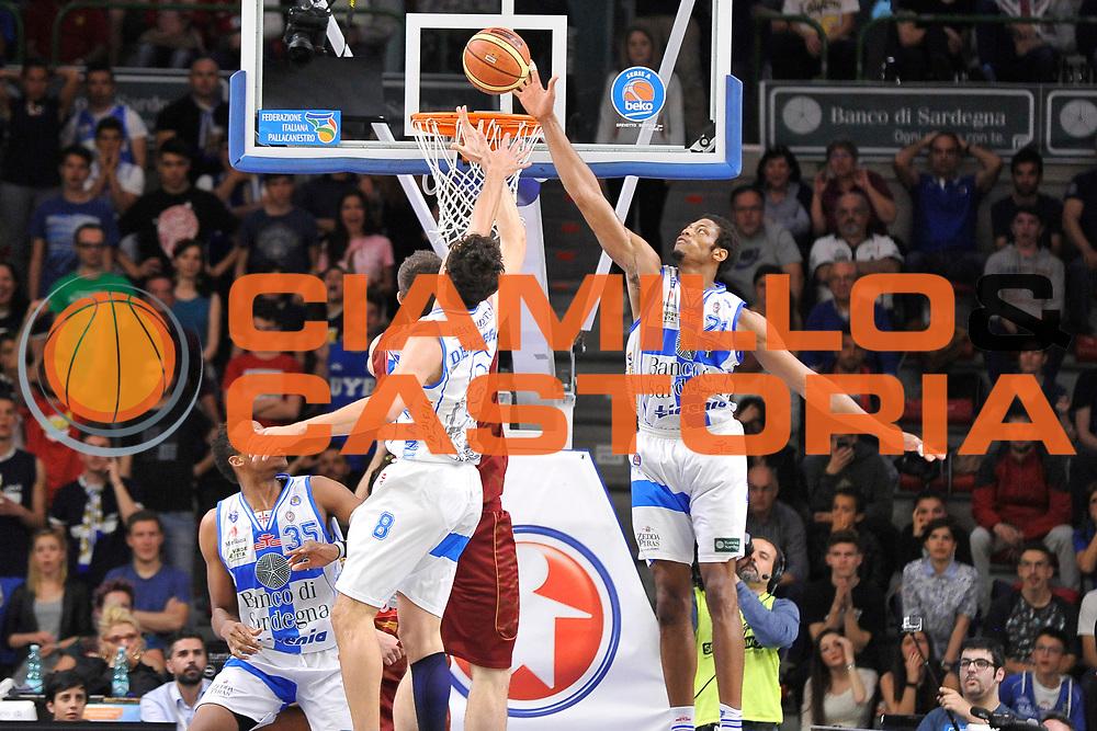 DESCRIZIONE : Campionato 2014/15 Dinamo Banco di Sardegna Sassari - Umana Reyer Venezia<br /> GIOCATORE : Jeff Brooks<br /> CATEGORIA : Tiro Penetrazione Stoppata<br /> SQUADRA : Umana Reyer Venezia<br /> EVENTO : LegaBasket Serie A Beko 2014/2015<br /> GARA : Dinamo Banco di Sardegna Sassari - Umana Reyer Venezia<br /> DATA : 03/05/2015<br /> SPORT : Pallacanestro <br /> AUTORE : Agenzia Ciamillo-Castoria/C.Atzori