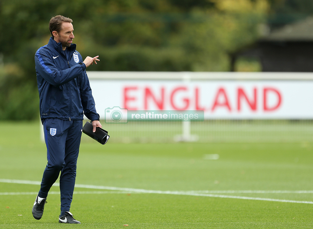 England head coach Gareth Southgate during the training session at Enfield Training Centre, London.