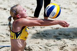 Marina Crnjac (Crnjac/Kontrec) at Beachmaster 2011 tournament for Slovenian BeachTour on July 22, 2011, in Ptuj, Slovenia. (Photo by Matic Klansek Velej / Sportida)