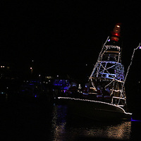 Boats participate in the 31st Annual Holiday Flotilla boat parade Saturday November 29, 2014 at Wrightsville Beach, N.C. (Jason A. Frizzelle)
