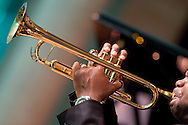 Jeremy Pelt, trumpet, performing in the Jazz Festival at Caramoor in Katonah New York.photo by Gabe Palacio