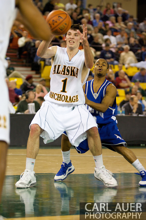 November 26, 2008: University of Alaska-Anchorage guard Kevin White (1) in the opening game of the 2008 Great Alaska Shootout at the Sullivan Arena against the University of Alaska-Anchorage Seawolves.
