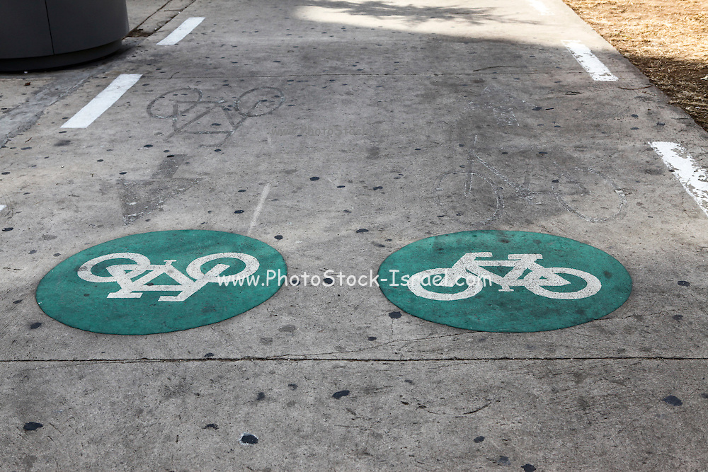 Bicycle lane Israel, Tel Aviv, Rothschild Boulevard