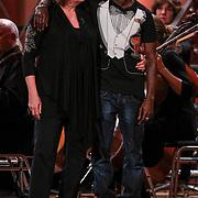 NLD/Haarlem/20121002- Opname AVRO's programma Maestro, deelnemers Kleine Viezerik, Catherine Keyl