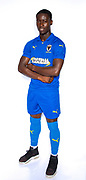 AFC Wimbledon defender Paul Osew (37) during the official team photocall for AFC Wimbledon at the Cherry Red Records Stadium, Kingston, England on 8 August 2019.