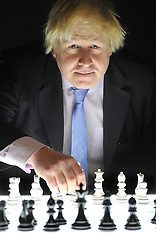 DEC 10 2014 Boris Johnson attends the London Chess Classic