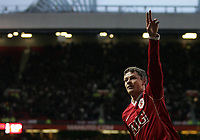 Photo: Paul Thomas.<br /> Manchester United v Aston Villa. The FA Cup. 07/01/2007.<br /> <br /> Ole Gunnar Solskjaer of Man Utd celebrates his winning goal.