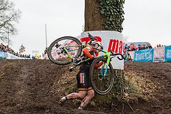 Sanne van Paassen (NED), Women, Cyclo-cross World Cup Hoogerheide, The Netherlands, 25 January 2015, Photo by Pim Nijland / PelotonPhotos.com