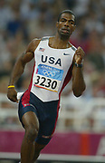 Derrick Brew of the United States placed third in the 400 meters in a season-best 44.42 in the 2004 Olympics in Athens, Greece on Monday, August 23, 2004.