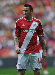 Lee Tomlin Middlesbrough, Middlesbrough v Norwich, Sky Bet Championship, Play Off Final, Wembley Stadium, Monday  25th May 2015