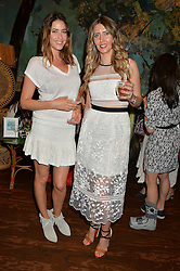 Left to right, LISA SNOWDON and ANNA GRACE-DAVIDSON at a tea party to launch Grace Guru held at Sketch, 9 Conduit Street, London on 17th June 2015.