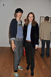 Left to right, STELLA TENNANT and the COUNTESS  CAWDOR at a private view of work by the late Rory McEwen - The Colours of Reality, held at the Shirley Sherwood Gallery, Kew Gardens, London on 20th May 2013.