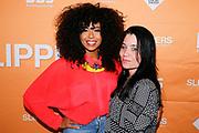 AMSTERDAM, THE NETHERLANDS. 2017-04-20. Fenna Ramos en Vanessa Wessels bij de premiere van Slippers in het DeLaMar Theater.
