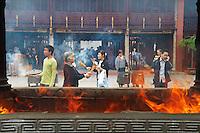 Chine, Shanghai, Nanshi l'ancienne ville chinoise, temple du Dieu des Remparts et des Fosses. // China, Shanghai, Nanshi the old chinese city, City Gold Temple.