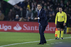 January 21, 2018 - Seville, Spain - ERNESTO VALVERDE, head coach of FC Barcelona, in action during the La Liga soccer match between Real Betis and FC Barcelona at Benito Villamarin Stadium (Credit Image: © Daniel Gonzalez Acuna via ZUMA Wire)