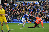Photo:Tony Oudot/Richard Lane Photography. Peterborough United v Leeds United. Coca-Cola Football League One. 04/10/2008. Craig Mackail-Smith of Peterborough scoring the second goal and celebrating with team mates.
