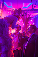 Entertainers at a corporate party, London, UK